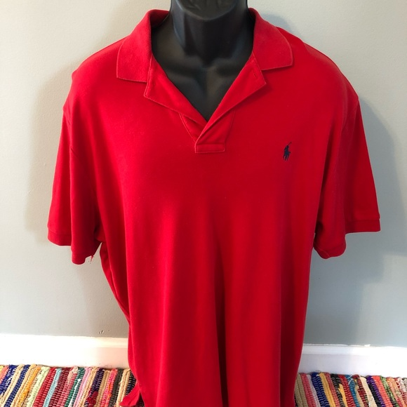 Polo by Ralph Lauren Other - Ralph Lauren Polo Shirt Red Rugby Logo Large